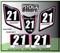 ATV Number Graphics Sticker Set / PsychMxGrafix / Layered Graphics / Black, Pink & White