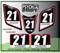 ATV Number Graphics Sticker Set / PsychMxGrafix / Layered Graphics / Black, Honda Red & White