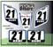 ATV Number Graphics Sticker Set / PsychMxGrafix / Layered Graphics / White, Yamaha Blue & Black