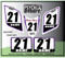 ATV Number Graphics Sticker Set / PsychMxGrafix / Layered Graphics / White, Purple & Black