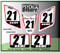 ATV Number Graphics Sticker Set / PsychMxGrafix / Layered Graphics / White, Honda Red & Black