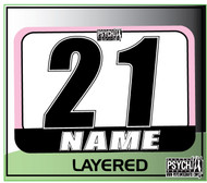 ATV Number Graphics | Layer Design | Pink/White/Black