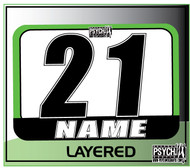 ATV Number Graphics | Layer Design | Green/White/Black