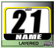 ATV Number Graphics | Layer Design | Yellow/White/Black