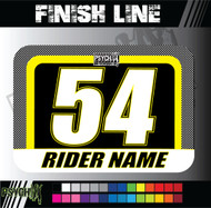 ATV Number Graphics | Finish Line Design