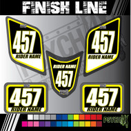 ATV Number Graphics | Finish Line Design | 5 Piece