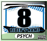 ATV Number Graphics | Psych Design | Yamaha Blue/White