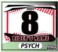 ATV Number Graphics | Psych Design | Honda Red/White
