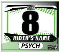 ATV Number Graphics | Psych Design | Kawi Green/White