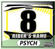 ATV Number Graphics | Psych Design | Suzuki Yellow/White