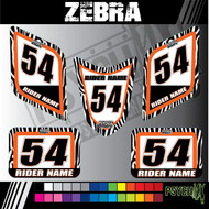 ATV Number Graphics | Zebra Design | 5 Piece