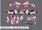 Splatter House - Red White & Blue Motorcycle/Dirt Bike Graphics Stickers Set / PsychMxGrafix / Splatter House