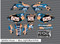 Splatter House - Blue, Light Blue & Pink Motorcycle/Dirt Bike Graphics Stickers Set / PsychMxGrafix / Splatter House