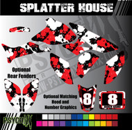 ATV Full Graphics Kit | Splatter House Design