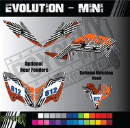 ATV Full Graphics Kit | Evolution Mini Design