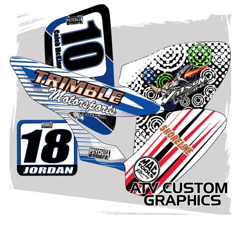Custom atv graphics decals