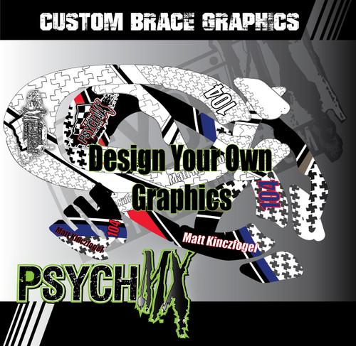 Custom Neck Brace Graphics - Fits, Alpine Star, EVS, Leatt, Atlas, Omega & More