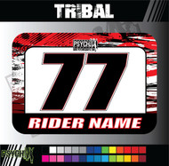 ATV Number Graphics | Tribal Design | Red/White/Black
