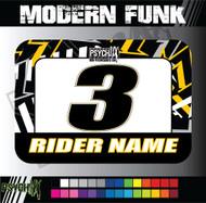 ATV Number Graphics | Modern Funk Design | SuzukiYellow/White/Black/Gray