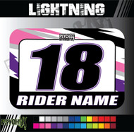 ATV Number Graphics | Lightning Design | Pink/Purple/White/Black