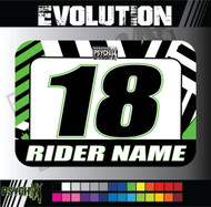 ATV Number Graphics | Evolution Design | KawiGreen/White/Black