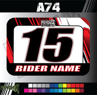 ATV Number Graphics | A74 Design | HondaRed/Black/White