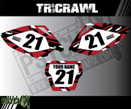 Dirt Bike Number plates, Tricrawl Design
