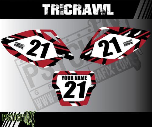 Dirt Bike Number plates, Tricrawl Design