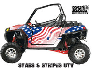Stars and Stripes Design for Side by Side UTV Graphics, UTV Graphics