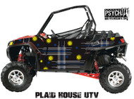 Plaid House Design for Side by Side UTV Graphics, UTV Graphics