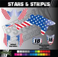 ATV Full Graphics Kit | Stars & Stripes