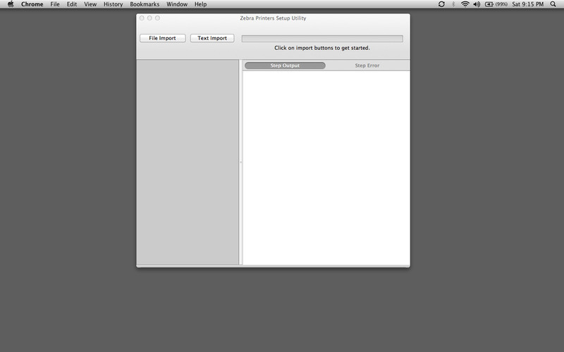 Zebra Setup Utilities for OSX