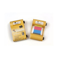 Zebra ix Series color ribbon for ZXP Series 3, 1/2 Panel YMCKO, 250 IMAGES | 800033-847 | 800033-847