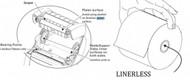 KIT RPR QLn220 PLATEN/GEAR W/HOLDER LINERLESS | P1031365-077