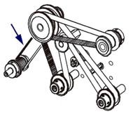 Zebra Drive Belt for Platen Roller 203 & 300 dpi (RH & LH) FOR 170PAX4 14196M | 14196M