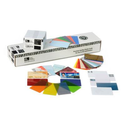30 MIL BLANK WHITE PVC CARDS W/3-UP BREAKAWAY KEY TAGS