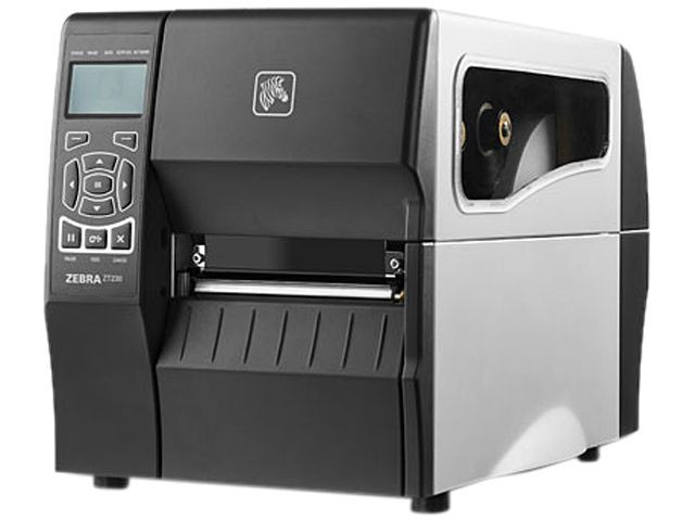 ZT230 Printer (203 dpi, Serial, USB, and ZebraNet n Print Server United  States and Canada, Cutter/Catch Tray | ZT23042-T21A00FZ