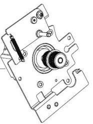 P1083347-018 | 3 Drive Motor with Pulley Assembly. Works for all dpi. ZT510 | P1083347-018