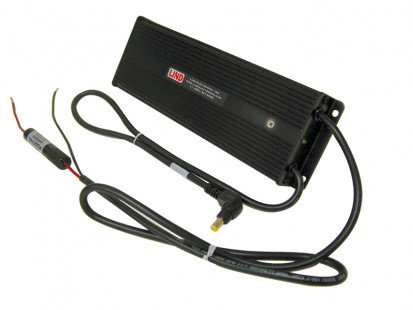 LIND-PA1555i-2425 Power Adapter for Panasonic docking stations and cradles, provides regulated power for forklifts or heavy equipment that have 72-110 V DC input power range. - 16514
