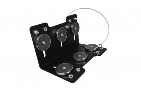 An adjustable mount designed to attach to a forklift's overhead guard - 7160-0850