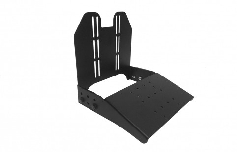 This mount is designed to hold both your tablet and keyboard. The keyboard tray is set at 20° to give your operator an optimal working angle. Its small profile means you can maximize the space within your mobile work environment. The mount also installs easily to a Motion Attachment - 7160-1157
