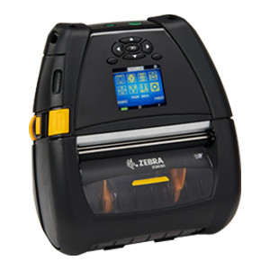 "ZQ630 Mobile Printer 4""/104mm; English/Latin fonts, Dual 802.11AC / BT4.x, Linered platen, 0.75"" core, Group E, Shoulder strap, Belt clip, Media Width Sensor  - ZQ63-AUWAE11-00"