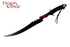 "26"" Full Tang Flame Blade Fantasy Ninja Sword Machete"