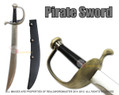 Pirate Cutlass Sword with Leather Sheath 30""
