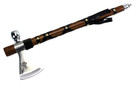 "18"" Tomahawk with Functional Smoking Tabacco Pipe"
