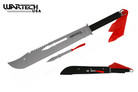"27"" Full Tang Ninja Combat Machete Sword With Throwing knife and Sheath"