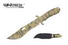 "11"" Military US Marine Survival Tactical Knife Camo Blade with Sheath"