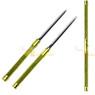 2 in 1 Gold Double Bladed Ninja Sword Staff Spear Short