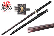 Onikiri Full Tang Folded Steel Japanese Ninja Katana Sword with Dragon Tsuba