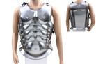 Roman Muscle Breast Plate Medieval Armor Cuirass LARP Chrome
